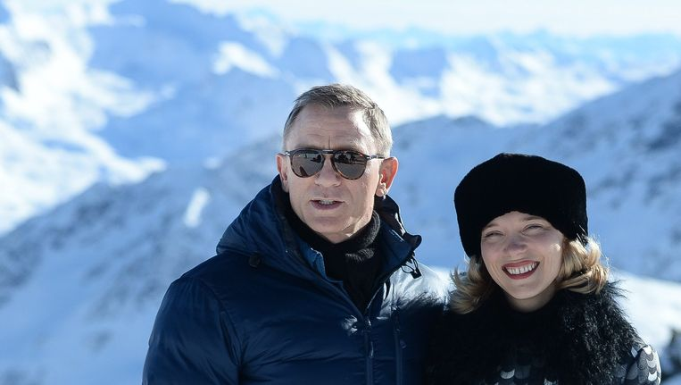 Daniel Craig en de Franse actrice Lea Seydou. Beeld anp