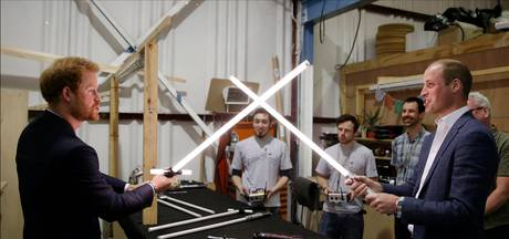 Britse prinsen William en Harry als Stormtroopers in Star Wars-film