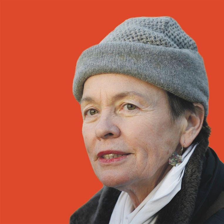 Laurie Anderson, de zalvende stem van de Amerikaanse kunstenaar gidst de bezoekers door To the Moon Beeld -