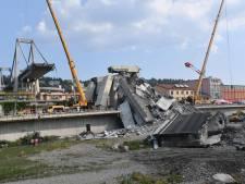 Vreemde geluiden uit brugdeel Genua: Italiaanse brandweer staakt werk