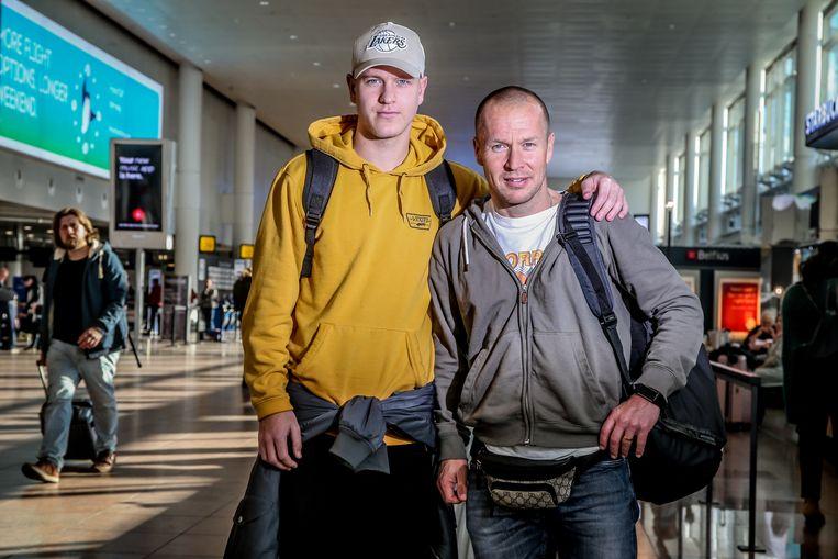 Par Zetterberg met zoon Erik Zetterberg (links).