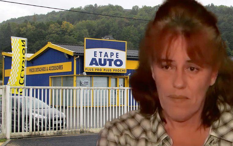 """Mama Rosa Cruz: """"Ik raakte verstrikt in een web van leugens."""" Op de achtergrond de garage waar haar baby werd aangetroffen."""