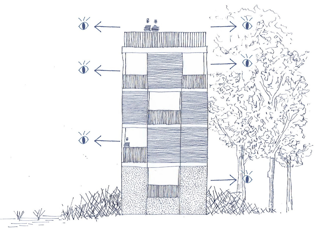 Nabij het Stappersven in Grenspark Kalmthoutse Heide is de bouw gestart van een uitkijktoren voor bezoekers.
