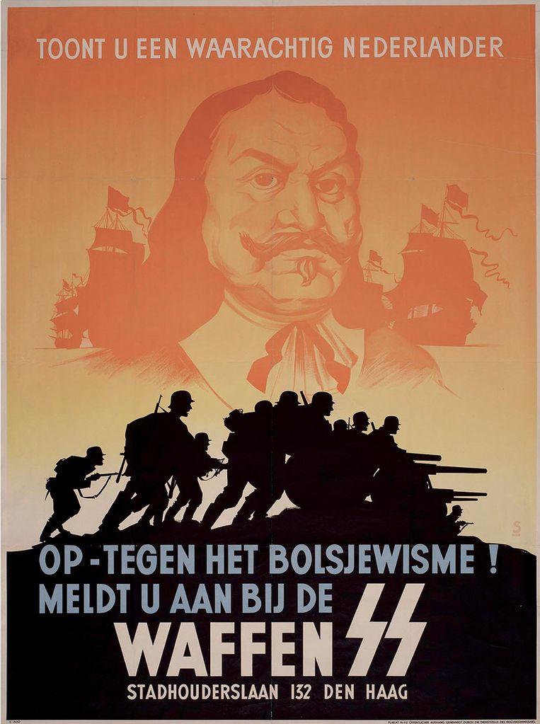 Illustratie uit het boek 'Fout! Wat Hollandse nazikranten schreven over Nederland, Joden en het verzet'. Beeld Veen Media