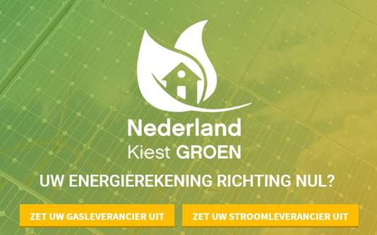 Een screenshot van de Nederland Kiest Groen.