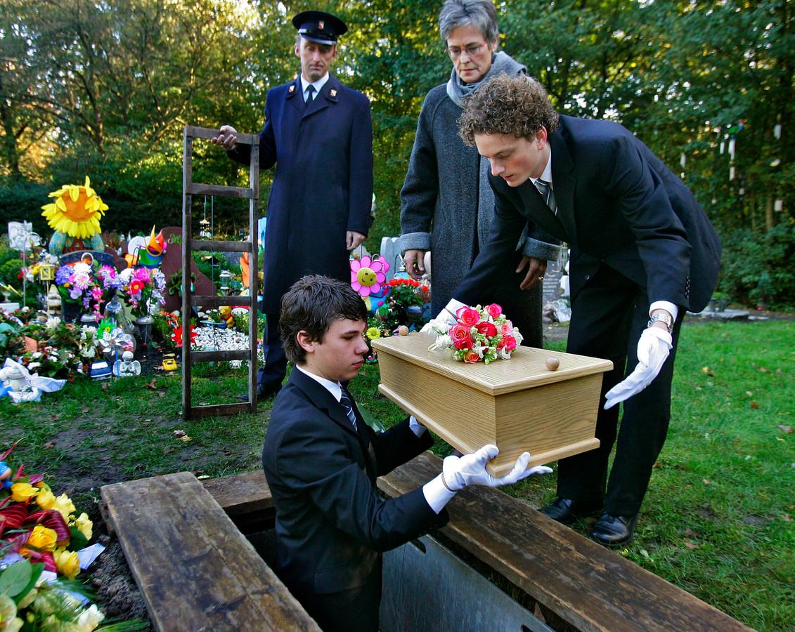 De begrafenis van 'Renée van Utrecht' op 9 november 2006.