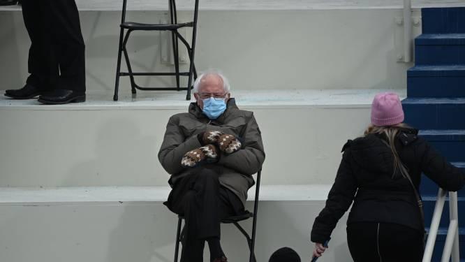 Bernie Sanders omarmt zijn meme en verkoopt nu truien met beroemde foto voor het goede doel