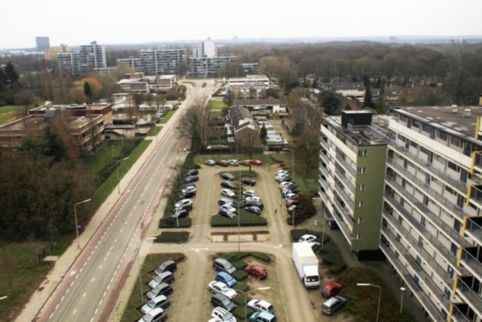 Dukenburg, een Nijmeegse wijk met veel flats.