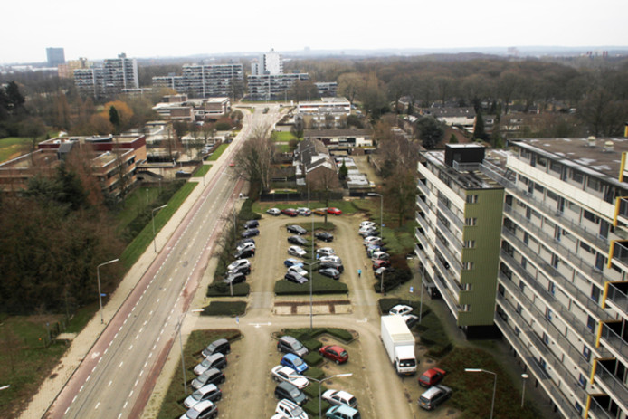Flats in de wijk Dukenburg.