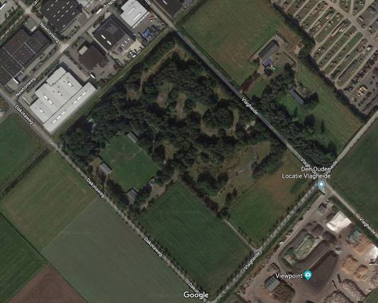 De plek waar het Basecamp in september komt te liggen op de Vlagheide.