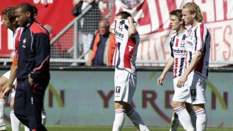 Ricardo Ippel (M) van Willem II na de verloren wedstrijd tegen FC Twente (4-0). ANP Beeld