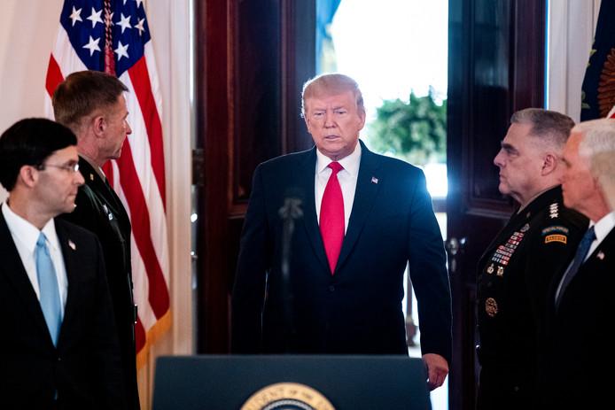 President Trump geeft een verklaring over de Iraanse aanval op Amerikaanse doelen in Irak.