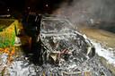 De auto was volledig verwoest