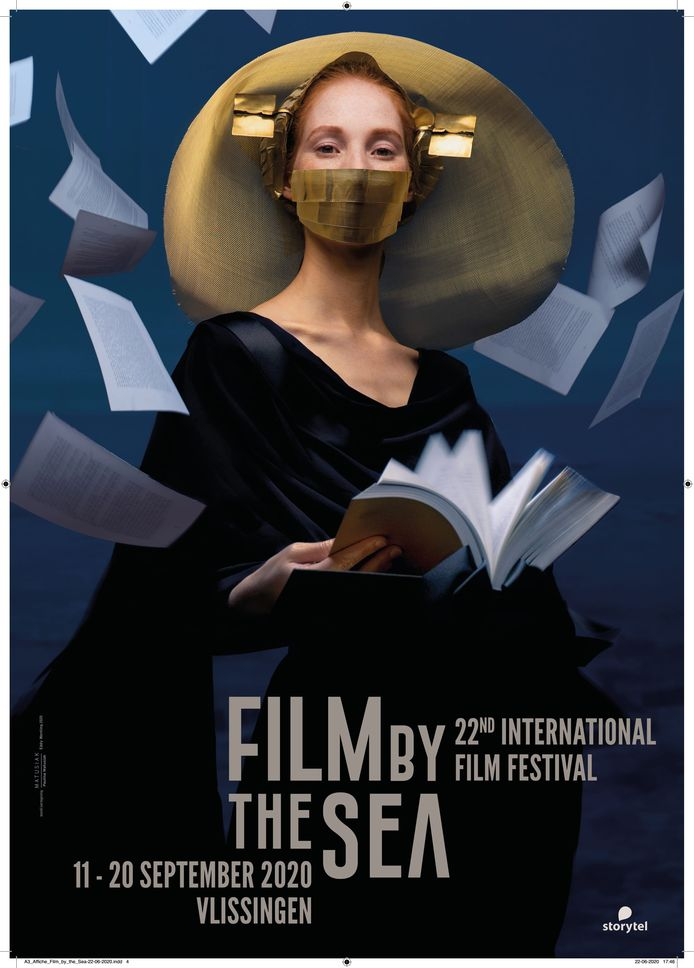 De corona-bestendige versie van de festivalposter van Film by the Sea. Het Zeeuwse evenement steekt in september de provinciegrens over: festivalfilms zullen ook worden vertoond bij Cinema Kiek in de Pot te Bergen op Zoom.