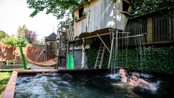 Tof in den hof: het gezin van lezeres Laila ontwierp zelf een boomhut en zwembad