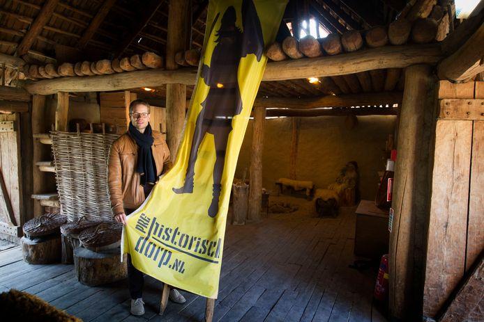 EINDHOVEN - Directeur Ward Rennen van het Eindhoven Museum. Hier op de foto in het huidige Prehistorisch Dorp