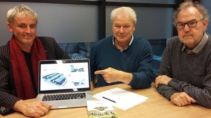Vlnr: Peter Prak, Otto Engels en Henk Koiter, initiatiefnemers Knarrenhof