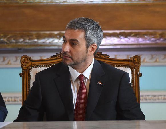 Mario Abdo Benitez is sinds vorige maand de nieuwe president van Paraguay.