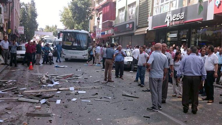 Het partijkantoor van de HDP in Mersin. Beeld afp