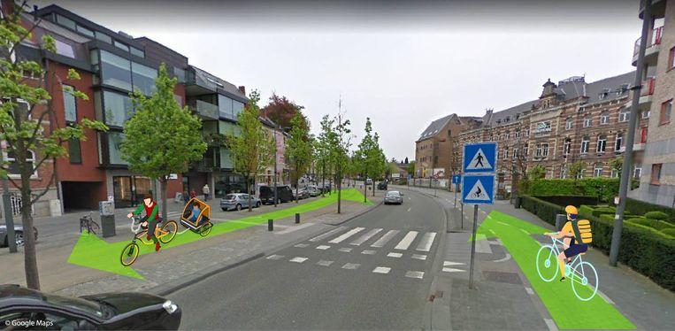 De Groene Boulevard in Hasselt.