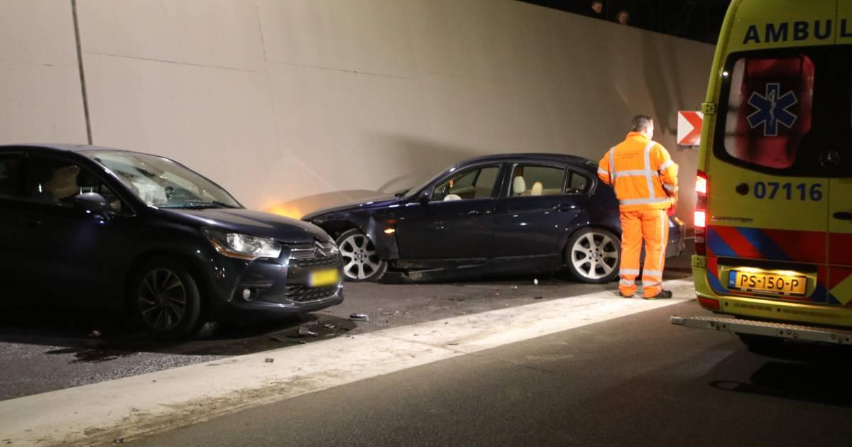 Aanhouding voor alcohol bij ongeval in tunnel Ede.