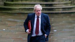 Boris Johnson op weg naar Downing Street 10