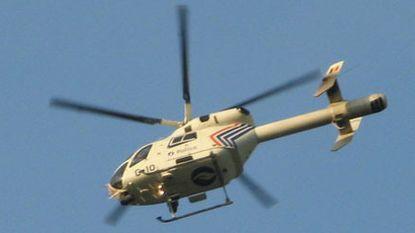 Politiehelikopter beschoten na bankroof in Ronse