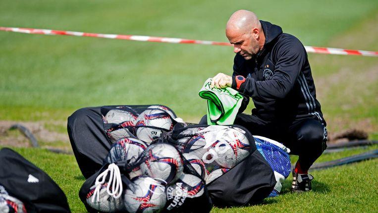 Bosz staat met Ajax in de halve finale van de Europa League. Beeld ANP