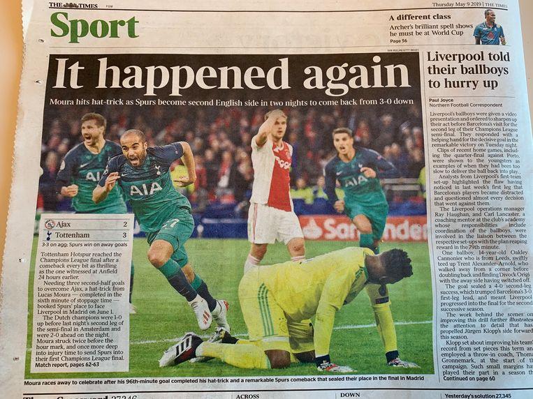 The Times van donderdag Beeld Het Parool