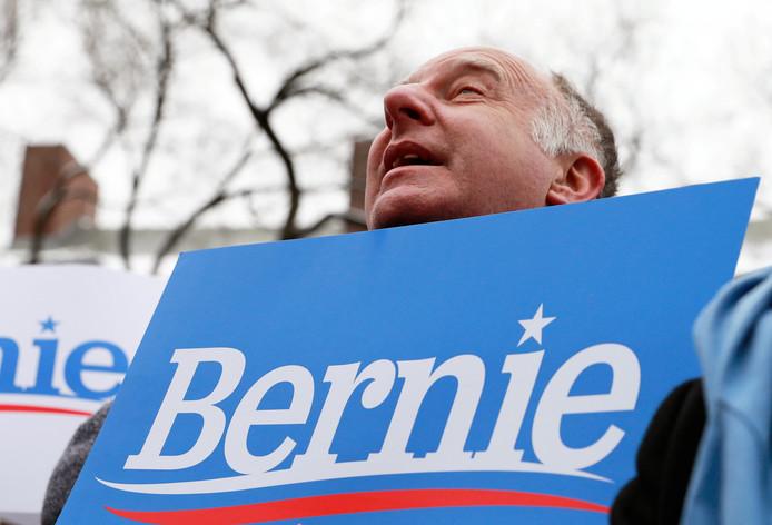 Een aanhanger van Sanders.