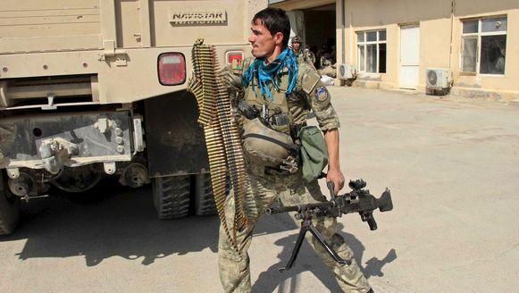 Een soldaat van de Afghaanse elitetroepen.