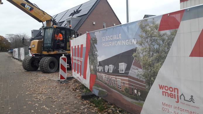 In Nijnsel worden momenteel twaalf sociale huurwoningen gebouwd aan de Huisakkerweg.