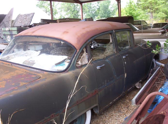 """Un """"super nid"""" à l'intérieur d'une voiture abandonnée."""