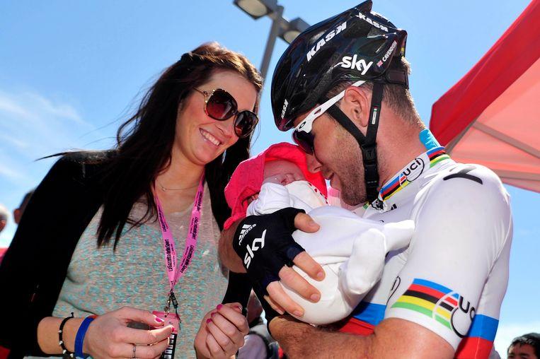 Cavendish in 2012 met dochtertje Delilah Grace.