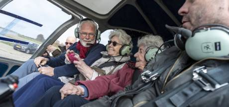 Zeeuwse (95) en Friese (90) samen in helikopter als verjaardagscadeautje