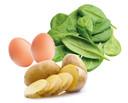 Aardappel ei spinazie