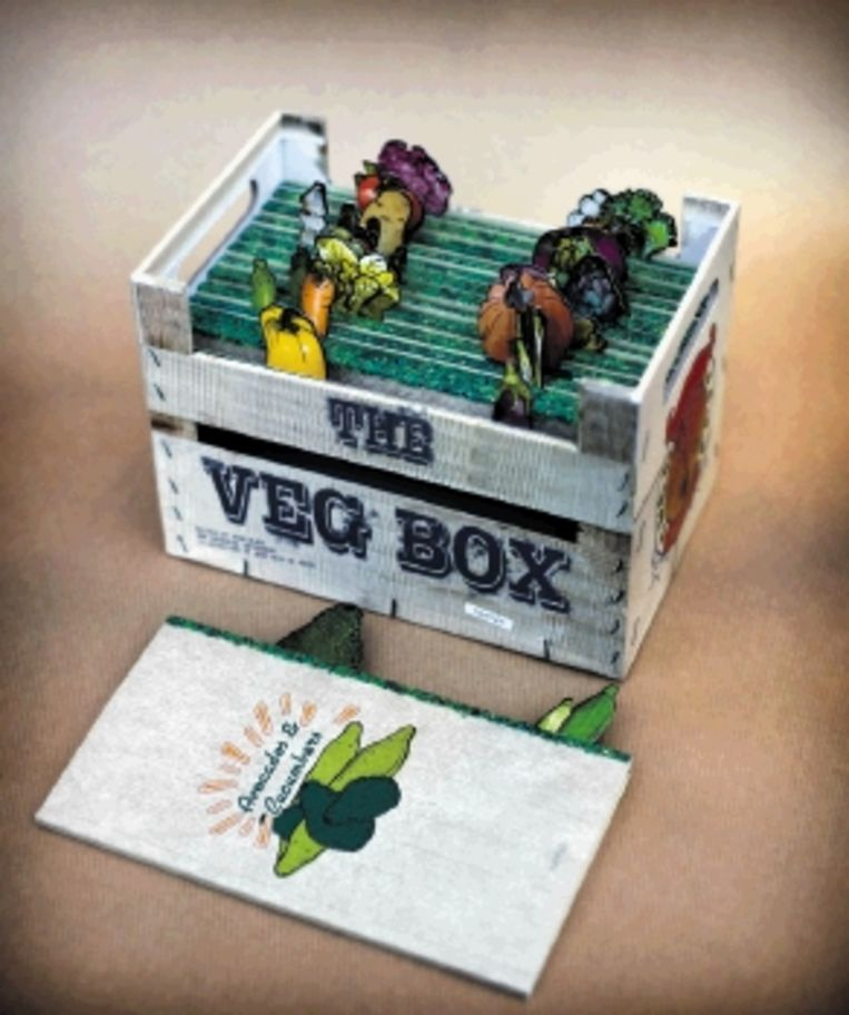 Het ultieme hebbeding: The Veg Box. Het lijkt warempel wel of steeds meer mensen groente eten. (Trouw) Beeld