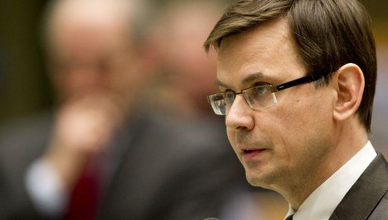 Andre Rouvoet tijdens een debat in de Tweede Kamer. Beeld anp