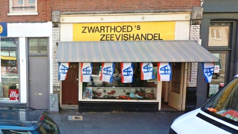 De vishandel zit al sinds jaar en dag in de Kinkerstraat Beeld Google Maps