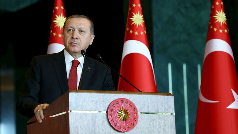 Kritiek op Erdogan (foto) is not done.