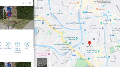 Google Maps situeert Muide verkeerdelijk aan Sint-Pietersplein