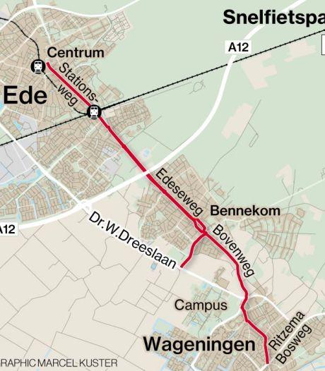 Ede gaat aan de fietsstraat: snelfietspad vanaf Wageningen komt steeds dichterbij