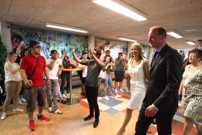 Máxima bezoekt Summa College in Eindhoven