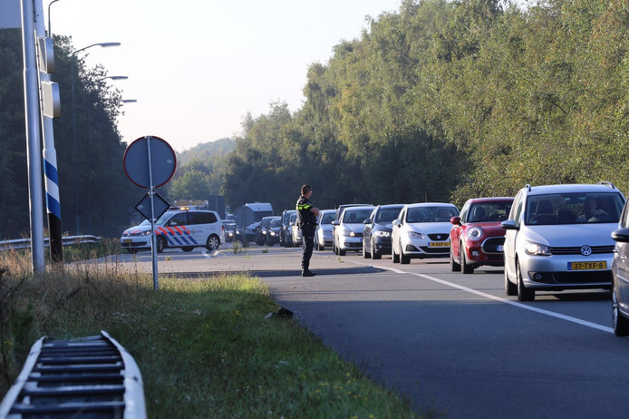 Flinke vertraging rondom Eindhoven