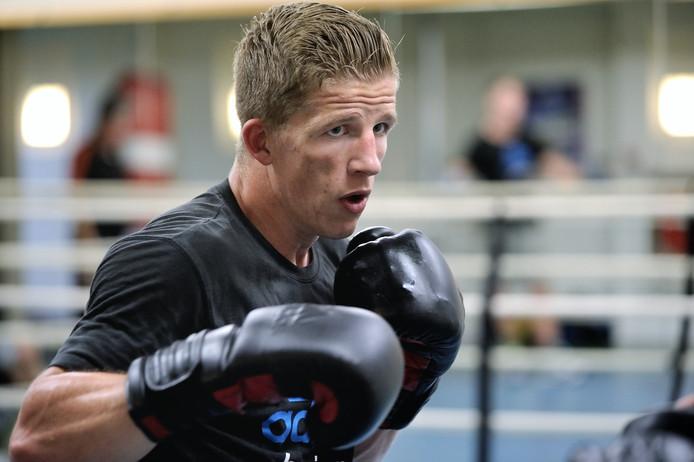 Bokser Max van der Pas tijdens een training op sportcentrum Papendal. Arnhem, 12 juni 2017.