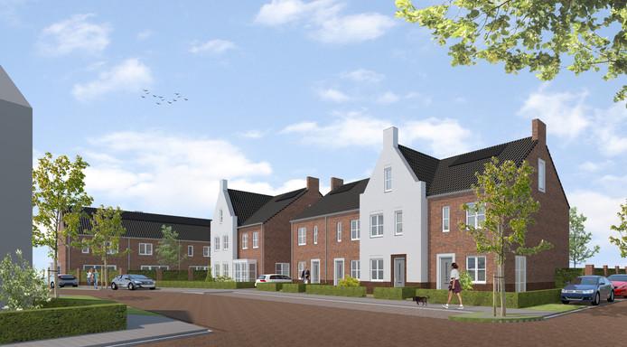 Plan Korenkwartier, op de plek van de voormalige Boerenbond-winkel: een van de nieuwbouwprojecten in Moergestel.