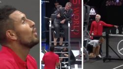 Dit gebeurt er wanneer McEnroe en Kyrgios in hetzelfde team zitten en de umpire een discutabele beslissing in hun nadeel neemt
