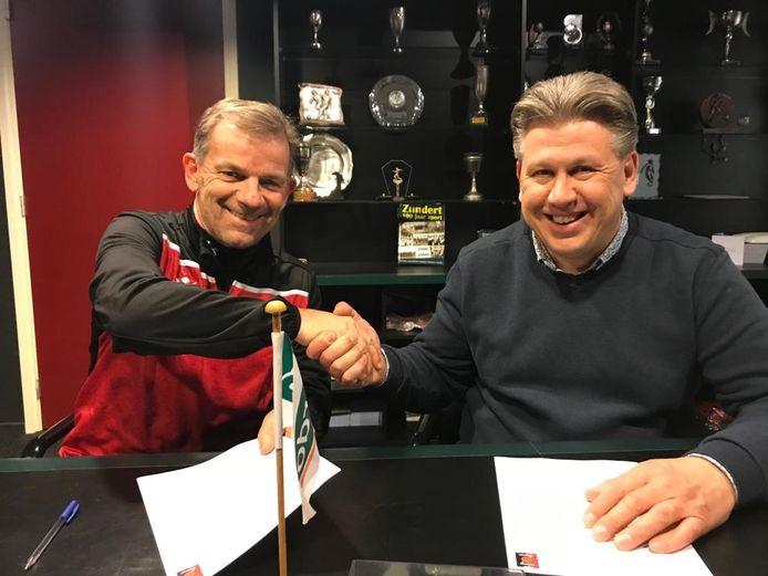 Jack Sweres (links) staat ook volgend seizoen voor de groep bij Zundert.