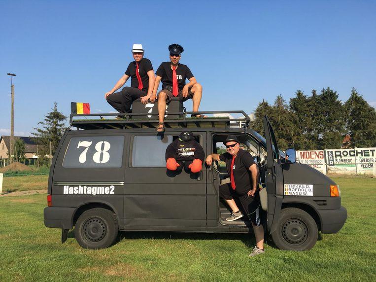 Pieter Vander Elst (rechts), Manuel Cludts (midden) en Patrick Dessent staan vandaag aan de start van de Budapest Rally.