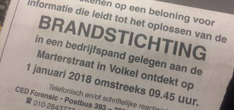 Beloning uitgeloofd voor tips over brandstichting bij bedrijf in Volkel